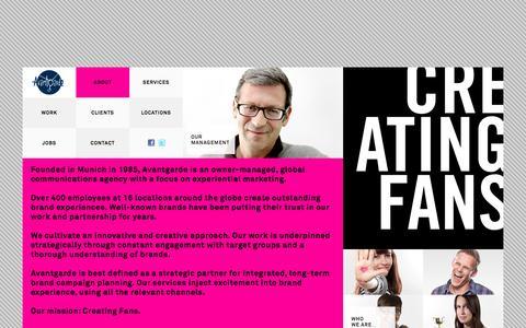Screenshot of About Page avantgarde.de - Avantgarde - captured Oct. 31, 2014