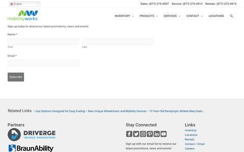 Screenshot of Signup Page mobilityworks.com - Email Sign Up - MobilityWorks - captured Sept. 20, 2019