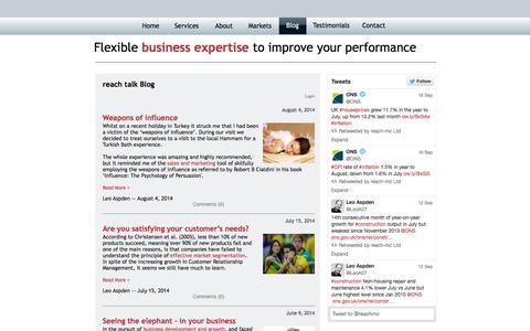 Screenshot of Blog reach-mc.co.uk - Blog | reach-mc - captured Oct. 7, 2014