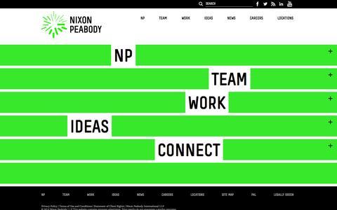 Screenshot of Home Page nixonpeabody.com - Nixon Peabody - captured Sept. 19, 2014