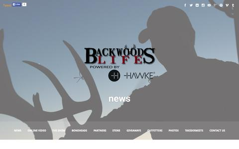 Screenshot of Press Page southernbackwoods.com - news   BackwoodsLife.com   Award winning outdoor hunting television on Sportsman Channel and Wild TV specializing in deer and turkey hunts. - captured Oct. 22, 2015