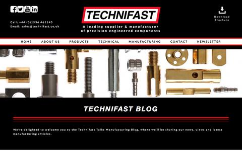Screenshot of Blog technifast.co.uk - Manufacturing Blog & Specialist Components News - Technifast.co.uk - captured Feb. 28, 2017