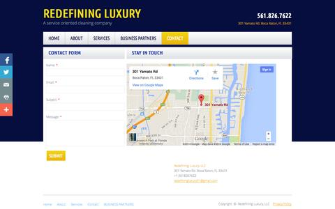 Screenshot of Privacy Page Contact Page redefining-luxury.com - Contact - captured Oct. 26, 2014