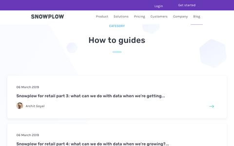 Screenshot of Blog snowplowanalytics.com - Blog – How to Guides - page 2 - captured Feb. 10, 2020