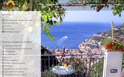 Screenshot of Services Page agriturismovillamaria.it - Services | Agriturismo Villa Maria - captured July 25, 2016