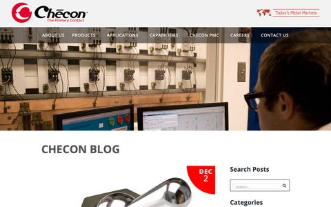 Screenshot of Blog checon.com - Checon Blog | Electrical Contacts | Contact Materials - captured Sept. 27, 2018