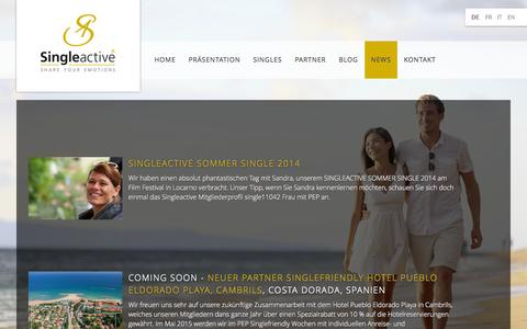 Screenshot of Press Page singleactive.ch - News DE - captured Oct. 29, 2014