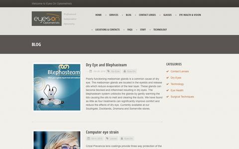 Screenshot of Blog eyeson.com.au - Eyes On Optometrists - captured Feb. 1, 2016