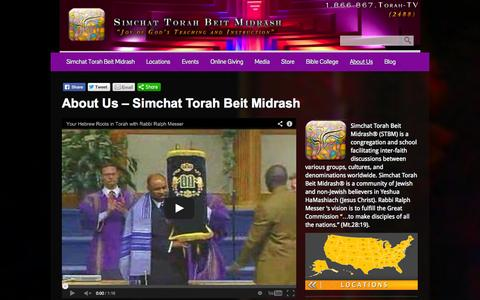 Screenshot of About Page stbm.org - About Us - captured Sept. 30, 2014
