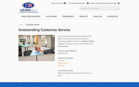 Screenshot of Support Page uskidsgolf.com - Customer Service - captured Nov. 20, 2019