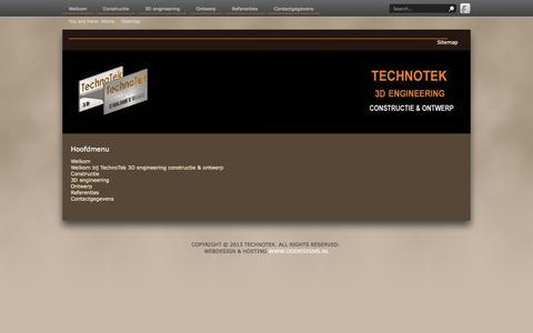 Screenshot of Site Map Page technotek.nl - Sitemap - captured Oct. 6, 2014