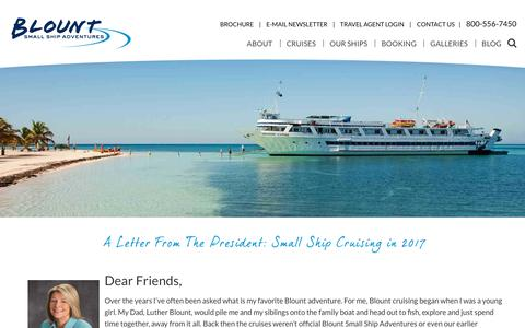 Screenshot of About Page blountsmallshipadventures.com - About our Small Ship Cruising | Blount Small Ship Adventures - captured June 2, 2017