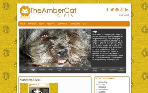 Screenshot of Blog theambercat.co.uk - Blog   Presents for Pet Lovers   The Amber Cat - captured Nov. 5, 2014