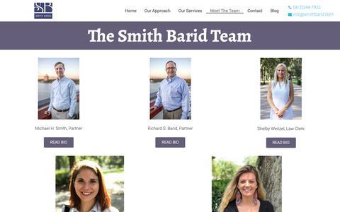 Screenshot of Team Page smithbarid.com - Firm | Smith Barid, LLC - captured Oct. 18, 2018