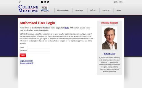 Screenshot of Login Page culhanemeadows.com - CM Website Login - captured Nov. 2, 2014