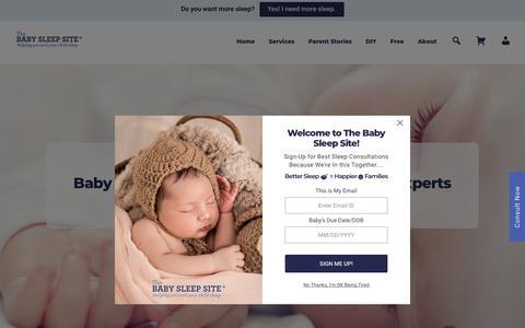 Screenshot of Home Page babysleepsite.com - The Baby Sleep Site: Baby Sleep Help, Expert Sleep Consultants - captured Feb. 17, 2020