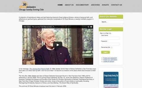 Screenshot of Home Page csec.org - Chicago Sunday Evening Club - Home - captured Oct. 2, 2014