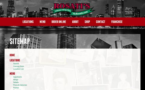 Screenshot of Site Map Page myrosatis.com - Sitemap | Rosati's Pizza - captured Nov. 19, 2016