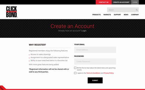 Screenshot of Signup Page clickbond.com - :: Click Bond, Inc. :: Sign Up - captured July 19, 2018