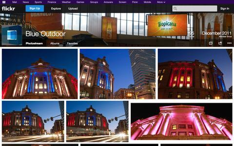 Screenshot of Flickr Page flickr.com - Flickr: Blue Outdoor's Photostream - captured Oct. 23, 2014