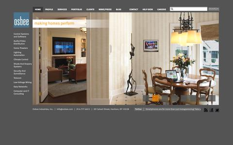 Screenshot of Home Page osbee.com - Osbee - captured Oct. 7, 2014