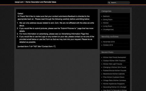 Screenshot of Contact Page ioexpl.com - Contact : ioexpl.com - captured Nov. 14, 2018