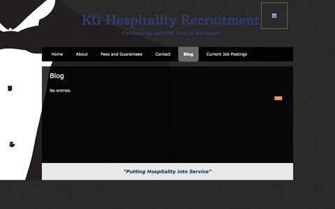 Screenshot of Blog kghospitality.ca - Blog - captured Oct. 14, 2018