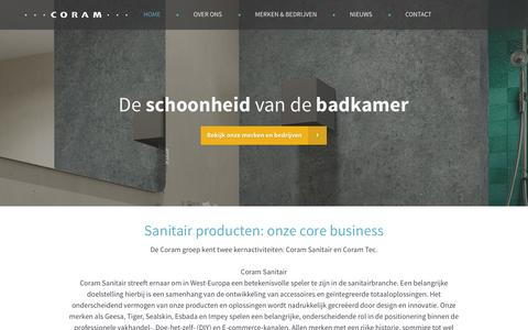 Screenshot of Home Page coram.nl - Coram International - Badkamer merken & bedrijven - captured Jan. 31, 2016