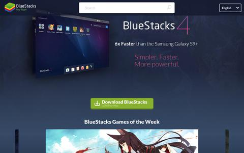 Screenshot of Home Page bluestacks.com - Bluestacks - The Best Android Emulator on PC as Rated by You - captured Sept. 19, 2018