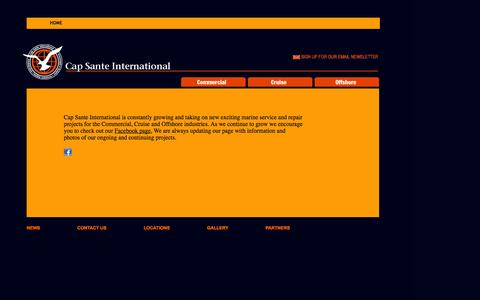 Screenshot of Press Page capsanteintl.com - Cap Sante International   Project News - captured Oct. 1, 2014