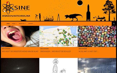 Screenshot of Home Page sinelab.nl - Sine | Innovatorium | Denken – Doen – Verbeteren - captured Sept. 30, 2014
