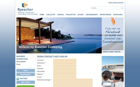 Screenshot of Contact Page roescherzonwering.nl - Roescher Zonwering - captured Sept. 21, 2018