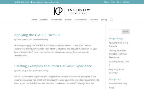 Screenshot of Blog interviewcoachpro.com - Blog - Interview Coach Pro - captured May 27, 2017