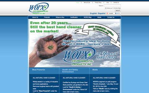 Screenshot of Home Page worx.ca - Worx | Home - captured Oct. 9, 2014