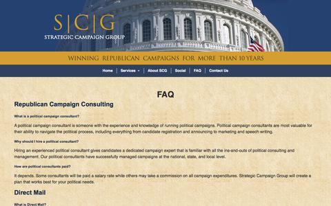 Screenshot of FAQ Page strategiccampaigngroup.com - FAQ - Strategic Campaign Group - captured Nov. 8, 2017