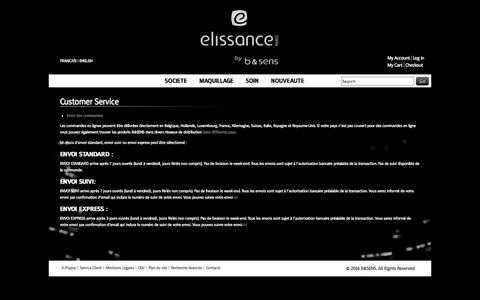 Screenshot of Support Page els-beauty.com - Customer Service - captured Oct. 1, 2014