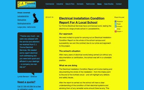 Screenshot of Press Page cjtimms.co.uk - News » C J Timms - captured Oct. 1, 2014