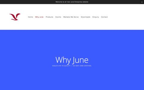 Screenshot of About Page june4gmp.com - Why June — June Enterprises - captured Feb. 13, 2016