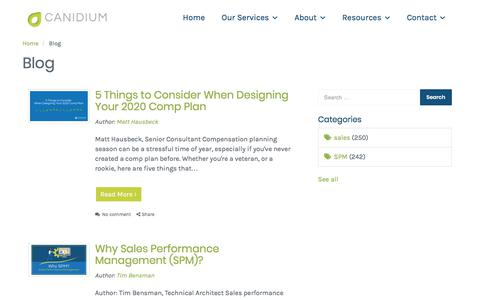 Screenshot of Blog canidium.com - Blog | Canidium - captured Nov. 16, 2019