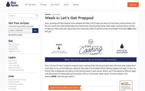 Screenshot of blueapron.com - Week 4: Let's Get Prepped | Blue Apron Blog - captured July 16, 2017