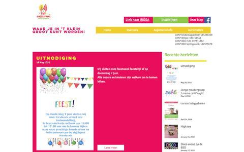 Screenshot of Blog kinderopvangonderdepannen.net - kdvonderdepannen | Blog - captured Sept. 20, 2018