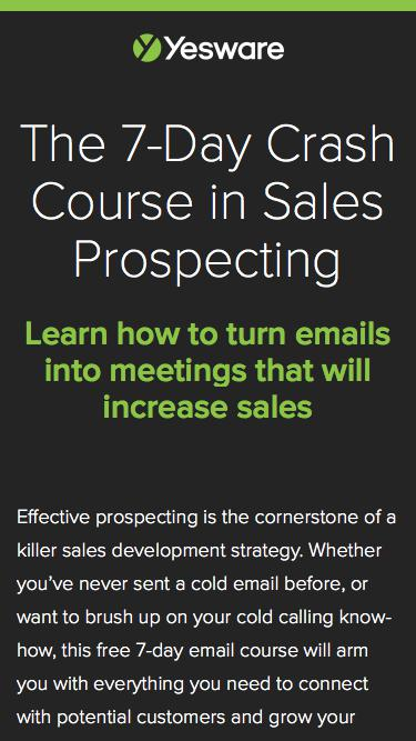 The 7-Day Crash Course in Sales Prospecting | Yesware