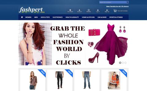 Screenshot of Home Page fashpert.com - Online Shopping India - Fashion, Mobile, Camera, Electronics, Sports, Toys, Home & kitchen : Fashpert.com - captured Oct. 5, 2014