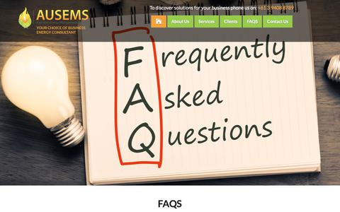 Screenshot of FAQ Page ausems.com.au - Ausems - captured Oct. 9, 2017