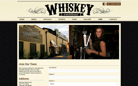 Screenshot of Jobs Page whiskeywarehouse.com - Jobs - captured Oct. 7, 2014