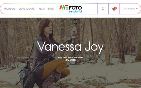 Screenshot of Team Page mefoto.com - MeFOTO MeFOTOgraphers Vanessa Joy - captured Jan. 18, 2016