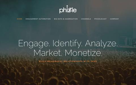 Screenshot of Home Page phizzle.com - Phizzle - captured Dec. 3, 2015