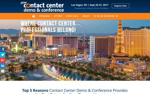 Screenshot of Trial Page icmi.com - Call Center Conference | ICMI - captured March 8, 2017