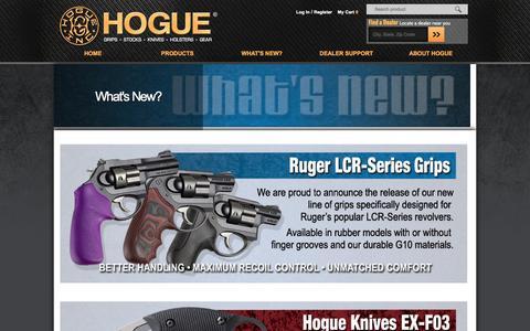 Screenshot of Press Page hogueinc.com - What's New?   Hogue Inc. - captured Dec. 10, 2015