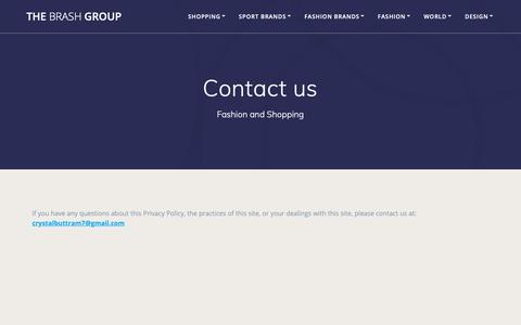 Screenshot of Contact Page thebrashgroup.com - Contact us | The Brash Group - captured Oct. 20, 2018